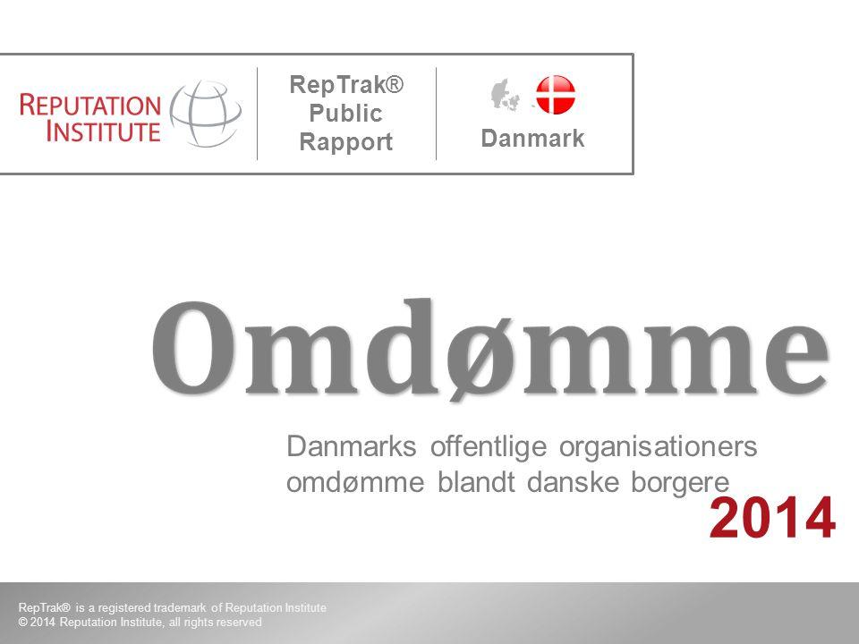 Danmarks offentlige organisationers omdømme blandt danske borgere