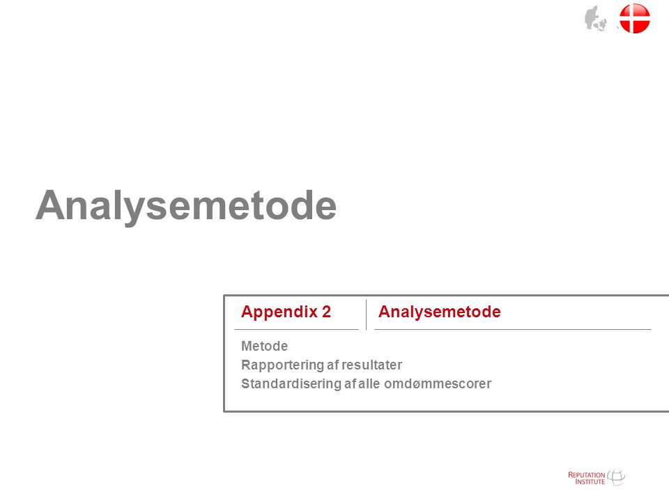 Analysemetode Appendix 2 Analysemetode Metode
