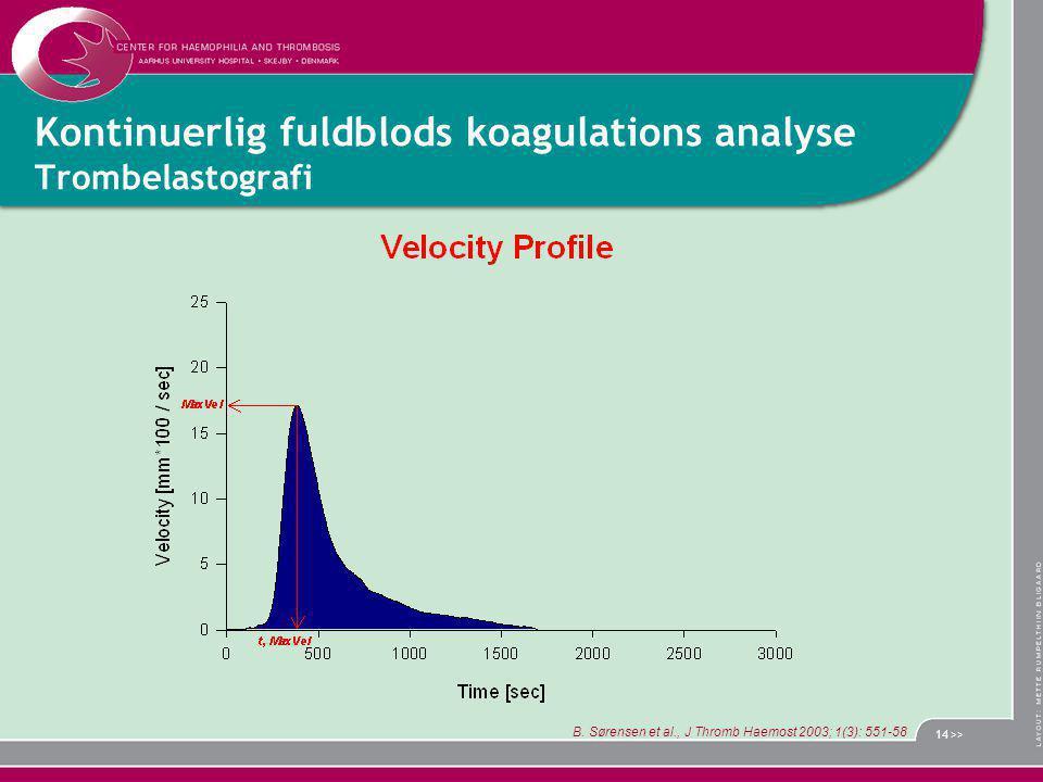 Kontinuerlig fuldblods koagulations analyse Trombelastografi