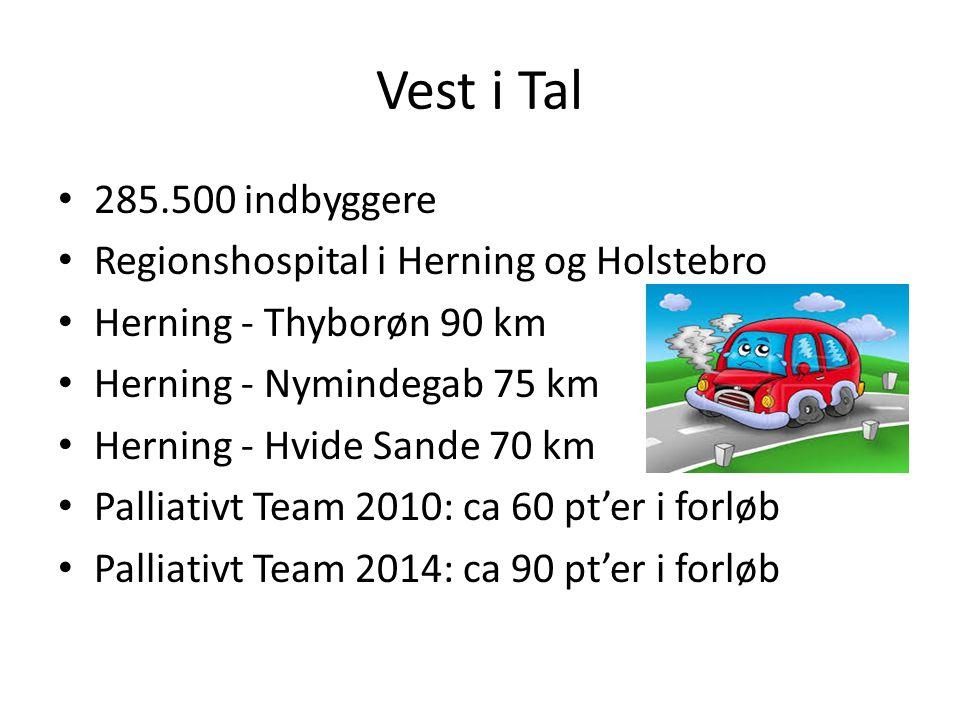 Vest i Tal 285.500 indbyggere Regionshospital i Herning og Holstebro