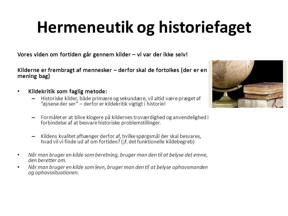 Hermeneutik og historiefaget
