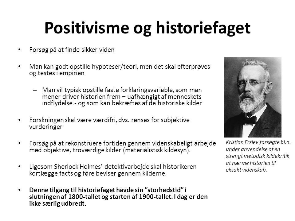 Positivisme og historiefaget