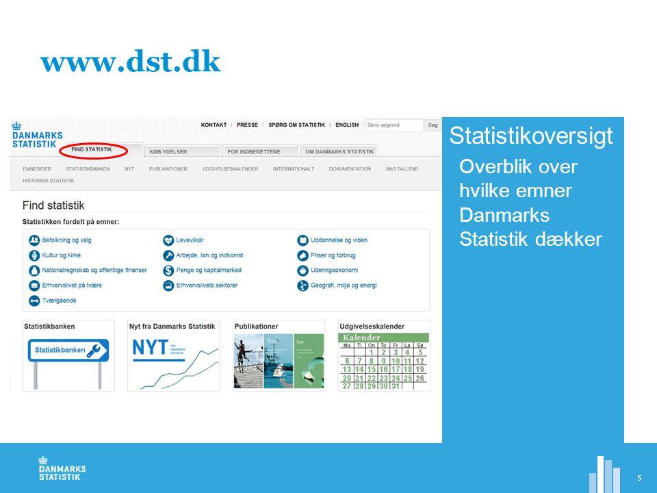www.dst.dk Statistikoversigt