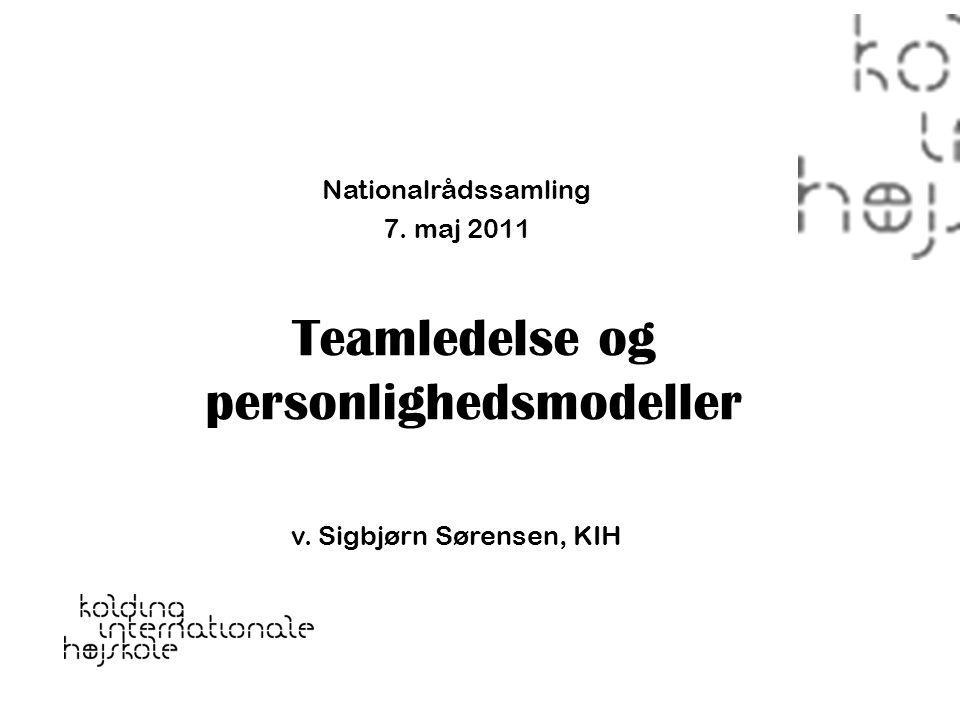 Teamledelse og personlighedsmodeller