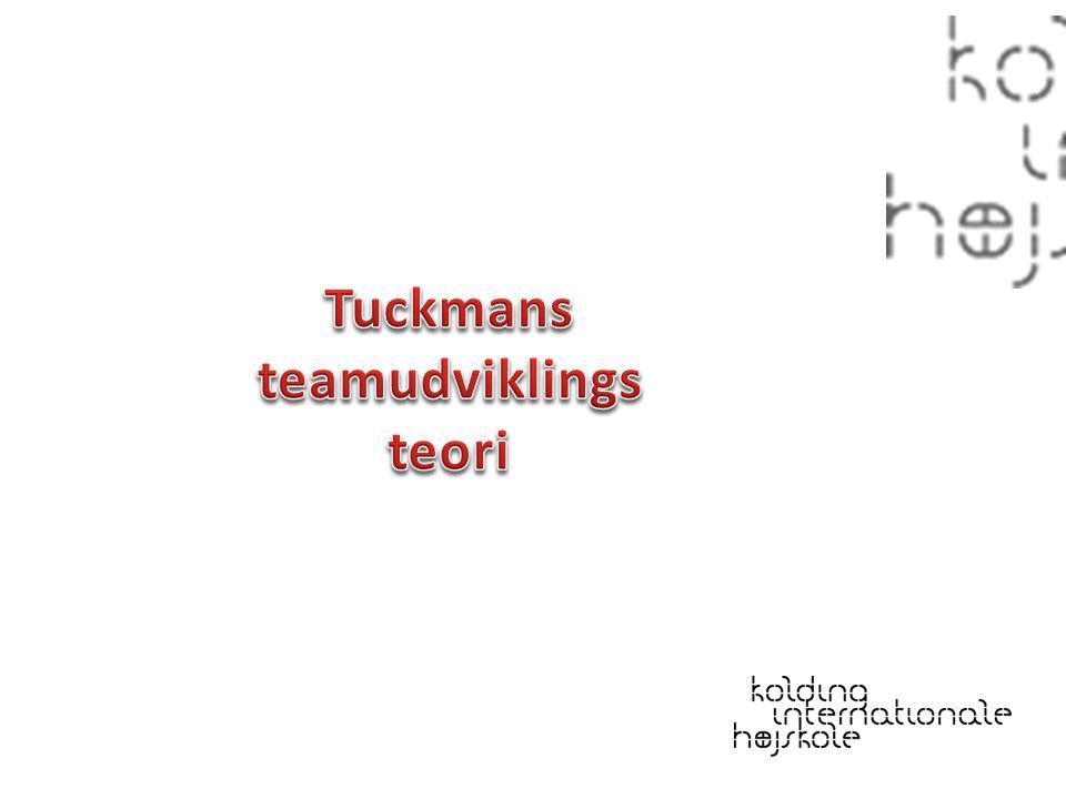 Tuckmans teamudviklingsteori