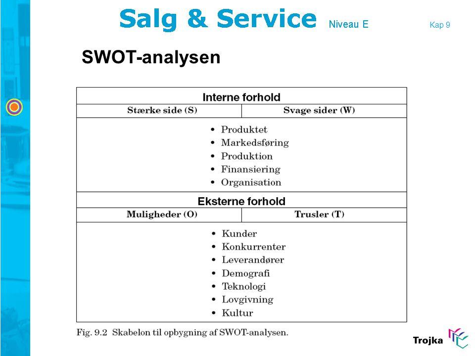 Kap 9 SWOT-analysen