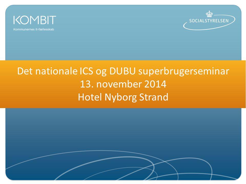 Det nationale ICS og DUBU superbrugerseminar 13