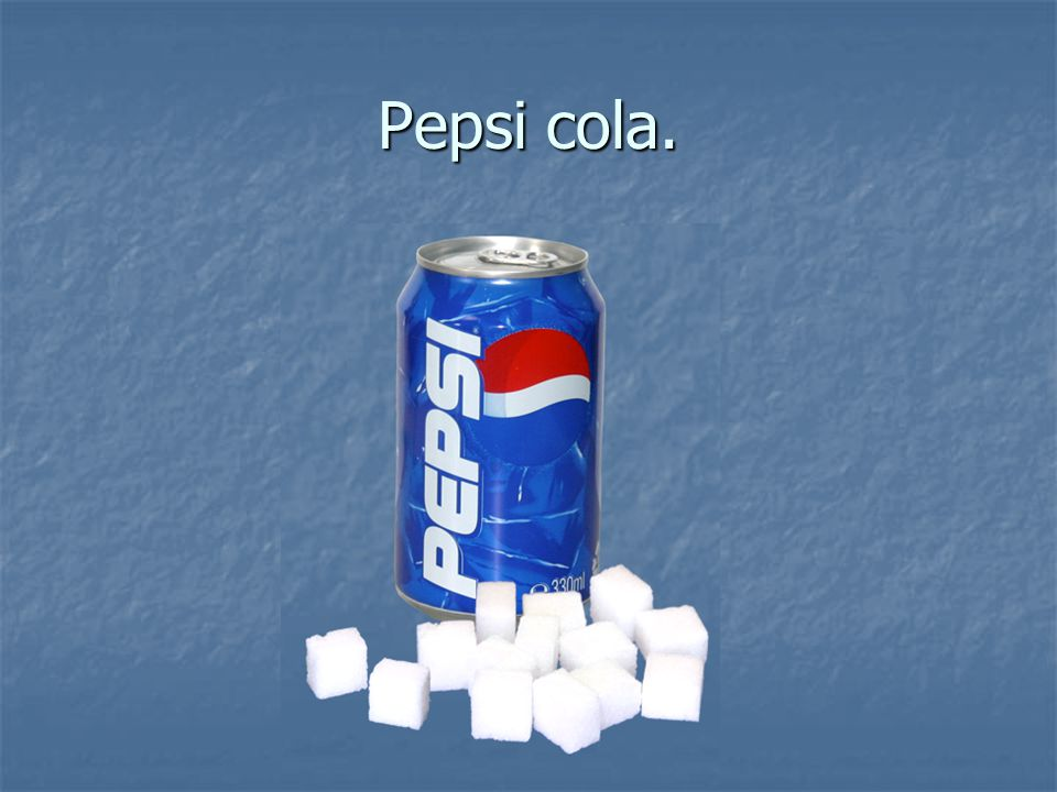 Pepsi cola.