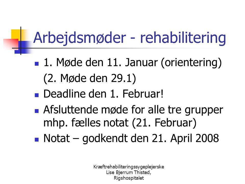 Arbejdsmøder - rehabilitering