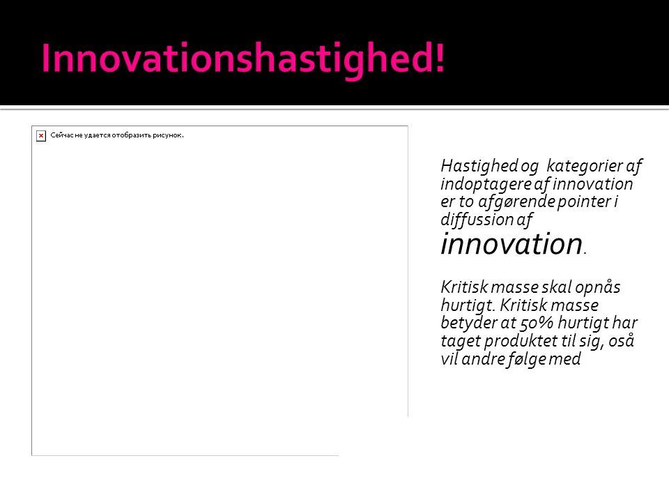 Innovationshastighed!