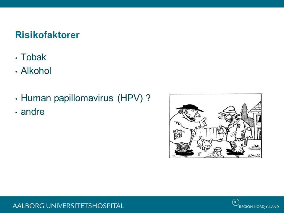 Risikofaktorer Tobak Alkohol Human papillomavirus (HPV) andre