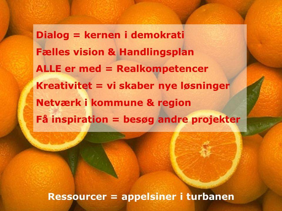 Ressourcer = appelsiner i turbanen