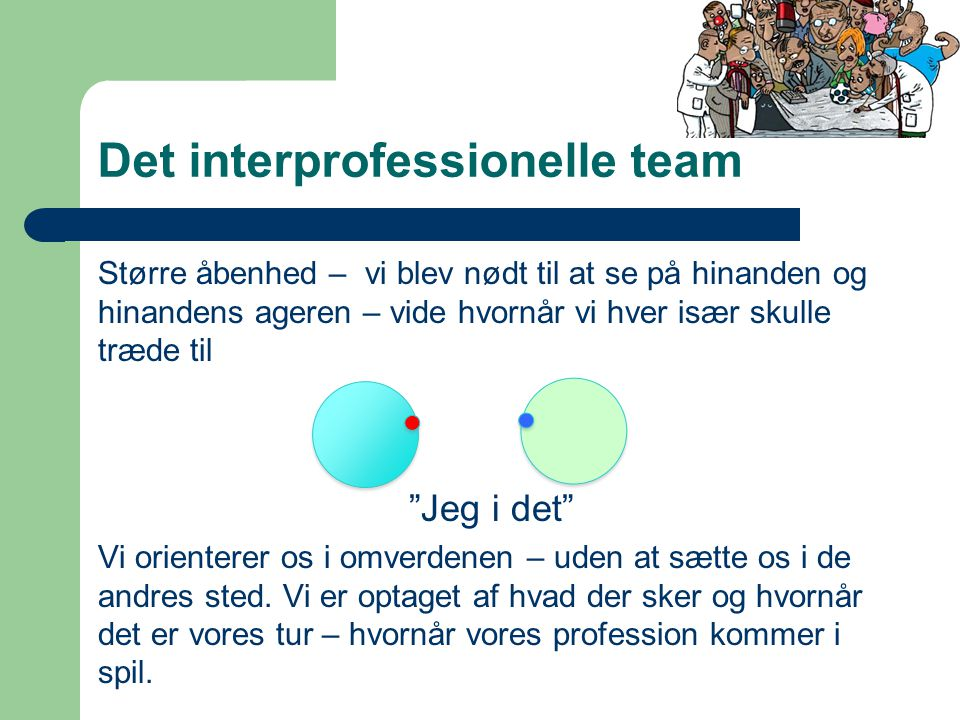 Det interprofessionelle team