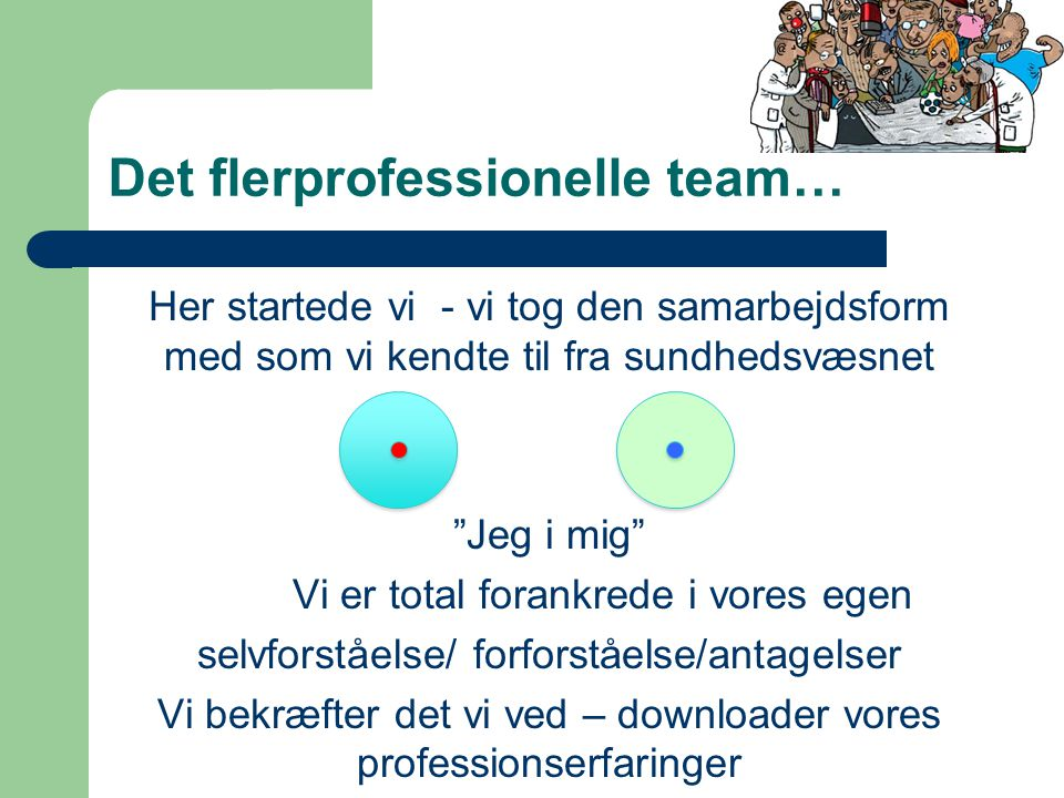 Det flerprofessionelle team…