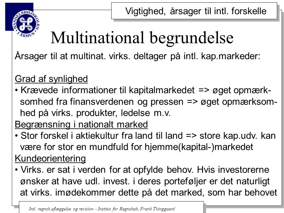 Multinational begrundelse