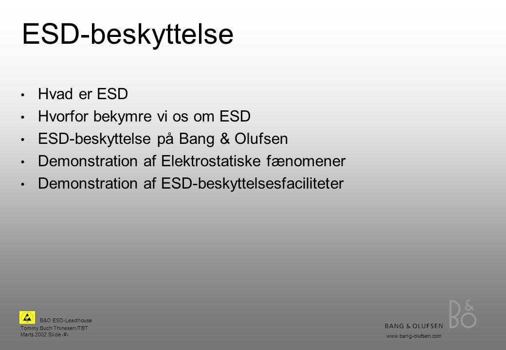 ESD-beskyttelse Hvad er ESD Hvorfor bekymre vi os om ESD