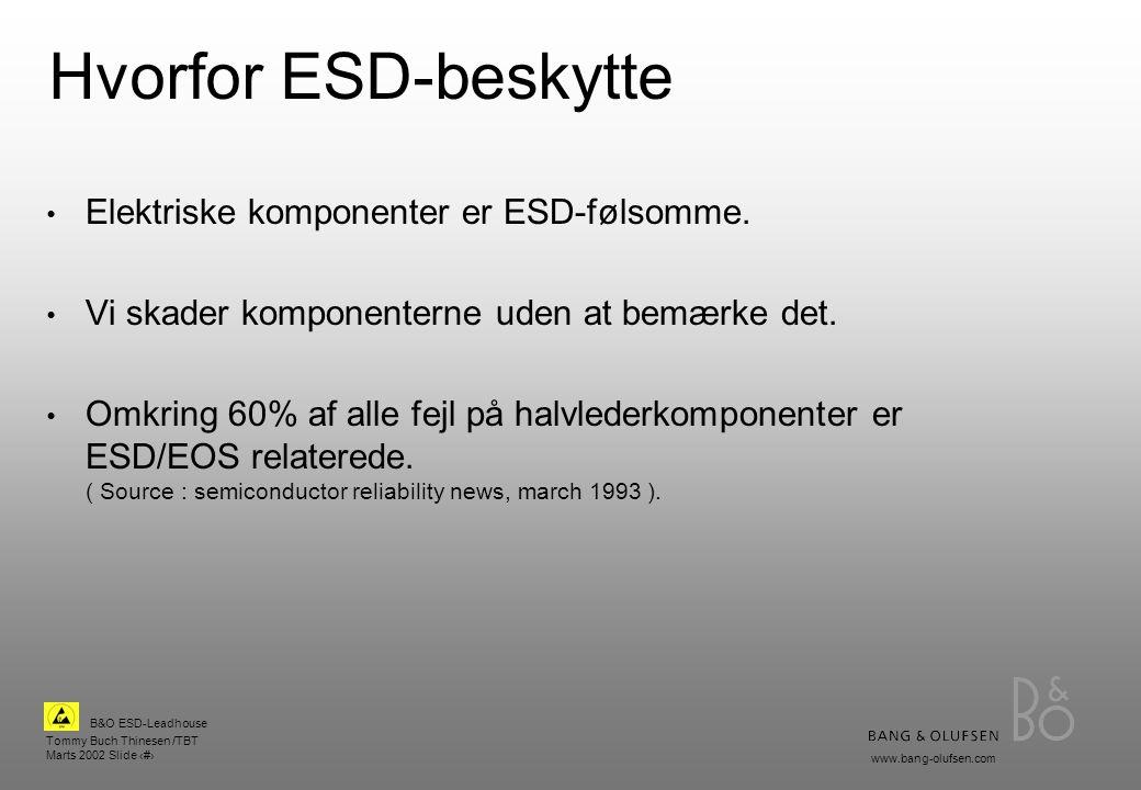 Hvorfor ESD-beskytte Elektriske komponenter er ESD-følsomme.