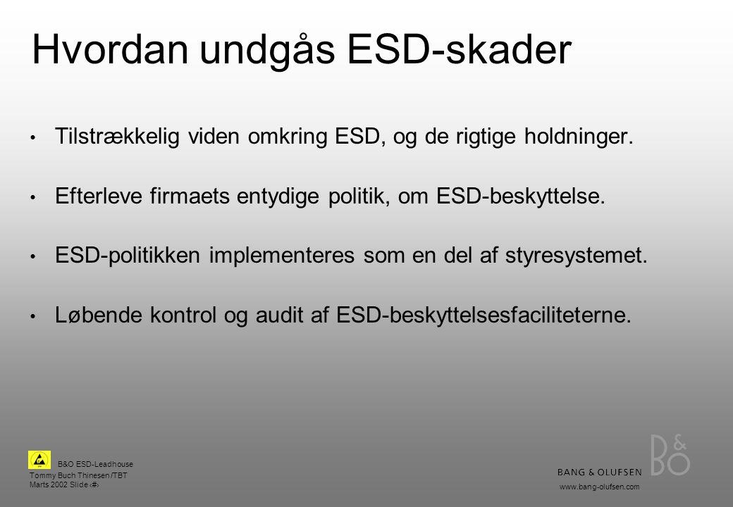 Hvordan undgås ESD-skader
