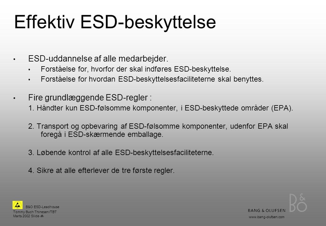 Effektiv ESD-beskyttelse