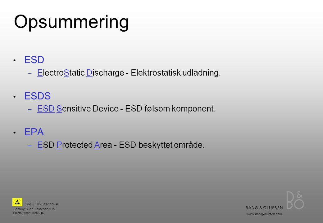 Opsummering ESD ESDS EPA
