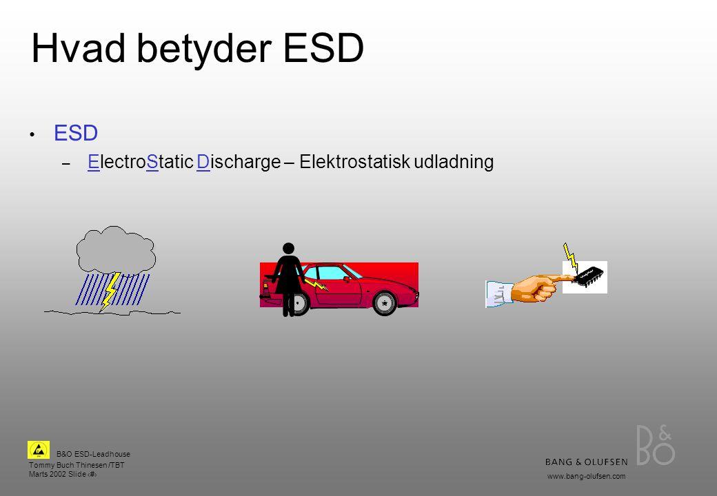 Hvad betyder ESD ESD ElectroStatic Discharge – Elektrostatisk udladning