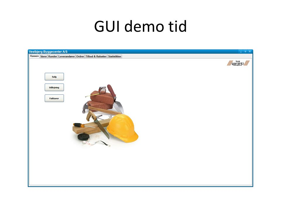 GUI demo tid
