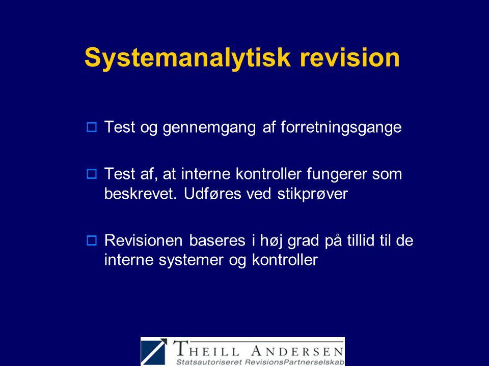 Systemanalytisk revision