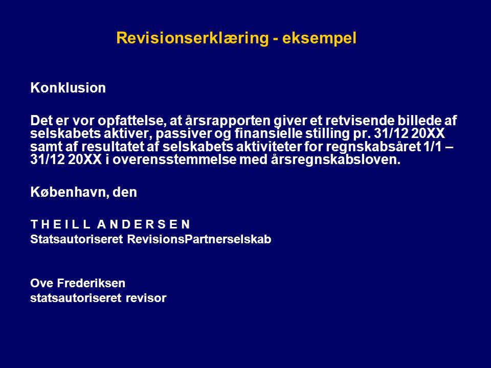 Revisionserklæring - eksempel