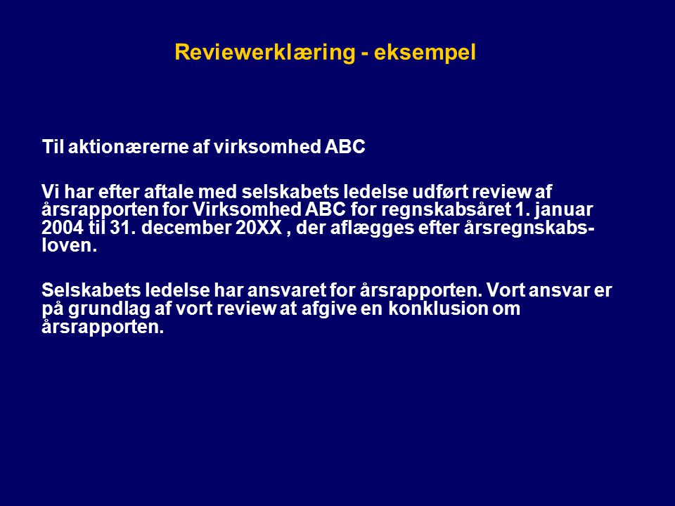 Reviewerklæring - eksempel