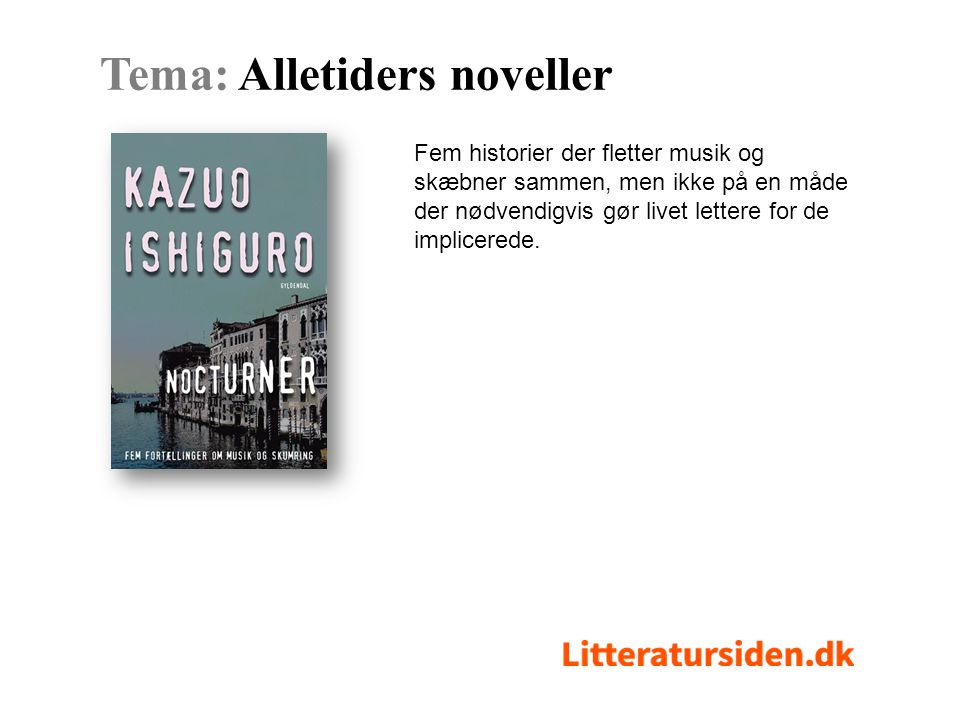 Tema: Alletiders noveller