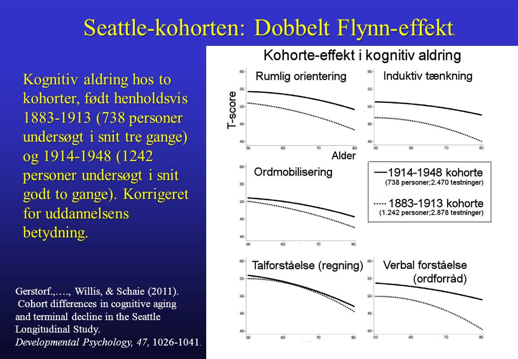 Seattle-kohorten: Dobbelt Flynn-effekt.