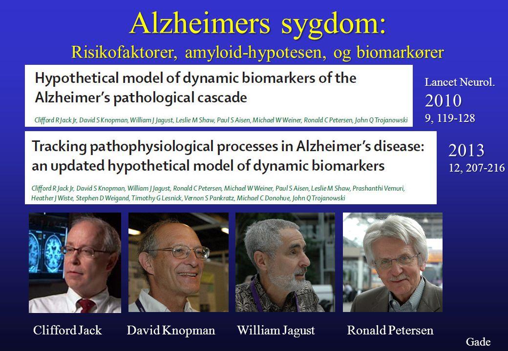 Risikofaktorer, amyloid-hypotesen, og biomarkører