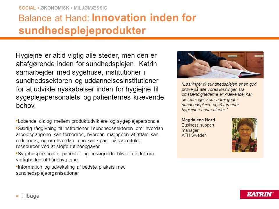 Balance at Hand: Innovation inden for sundhedsplejeprodukter