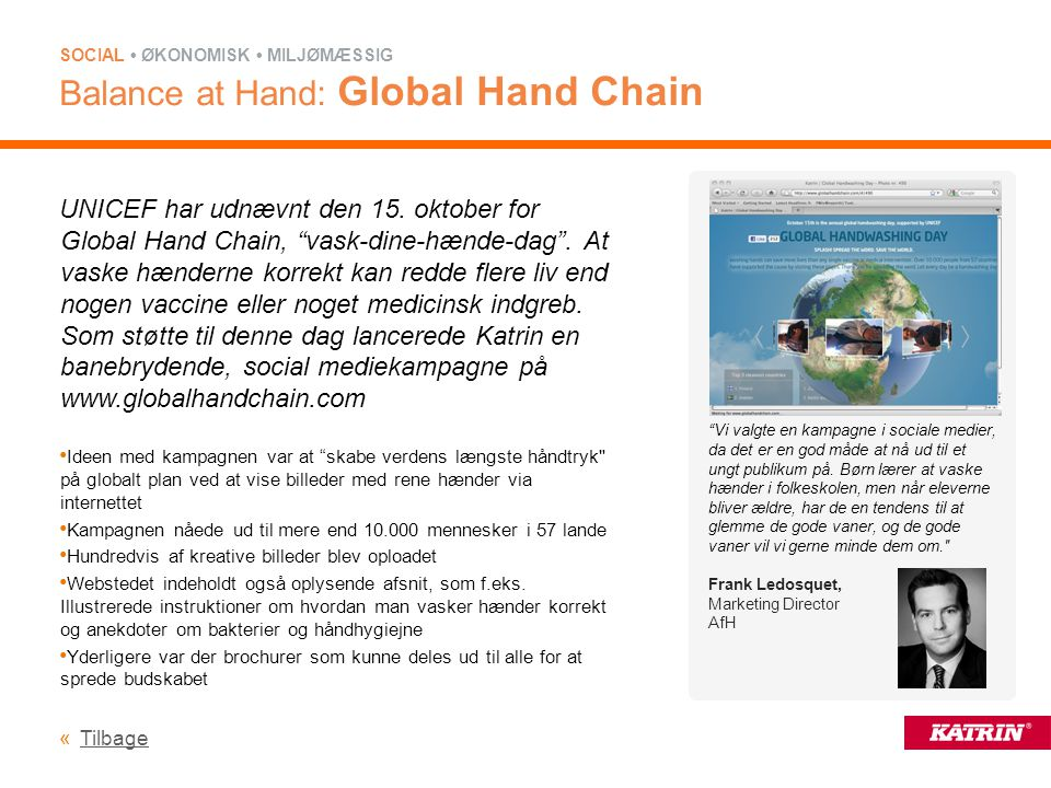 Balance at Hand: Global Hand Chain