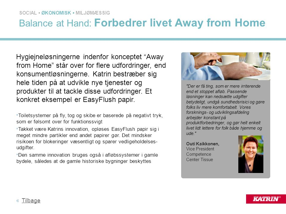 Balance at Hand: Forbedrer livet Away from Home