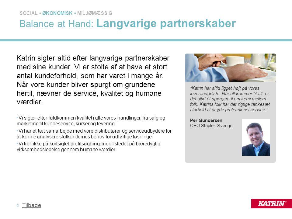 Balance at Hand: Langvarige partnerskaber