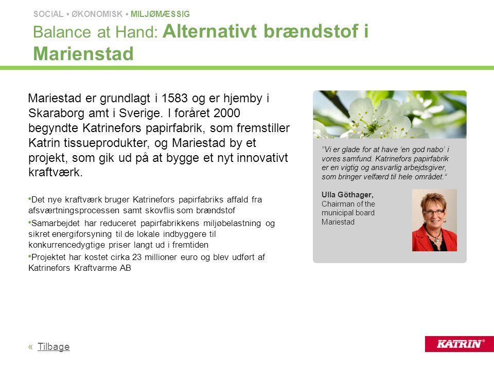 Balance at Hand: Alternativt brændstof i Marienstad