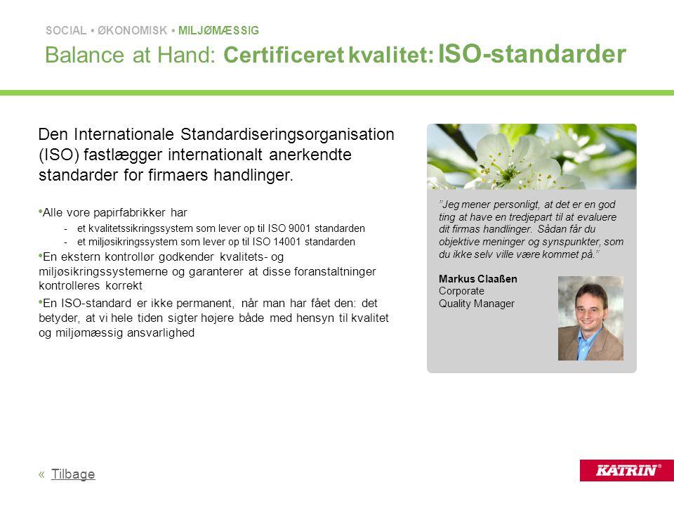 Balance at Hand: Certificeret kvalitet: ISO-standarder