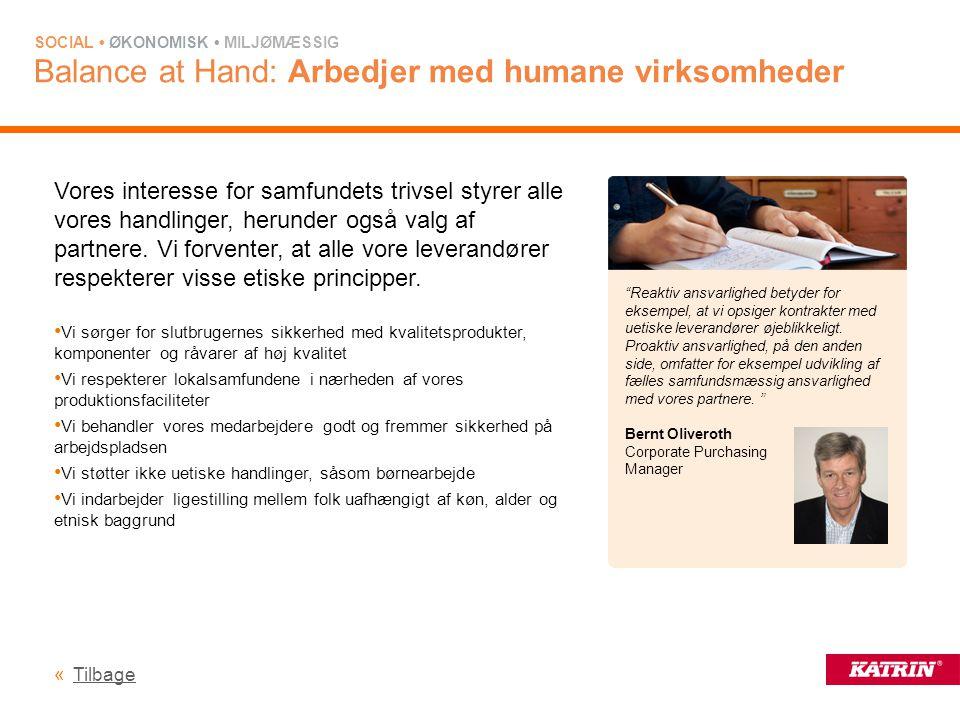 Balance at Hand: Arbedjer med humane virksomheder