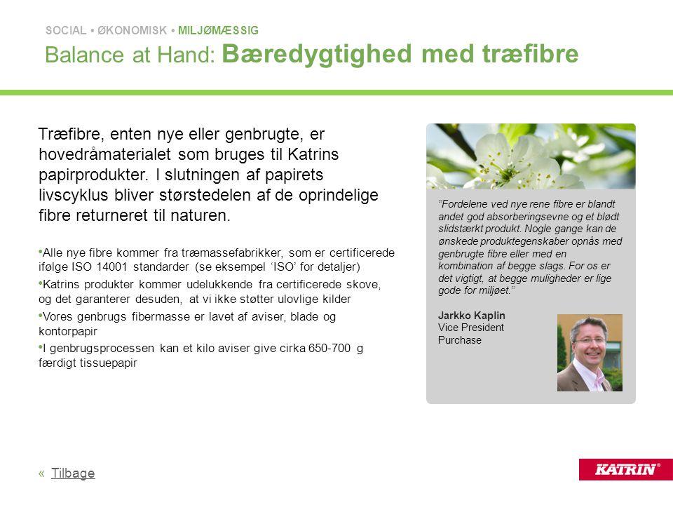Balance at Hand: Bæredygtighed med træfibre