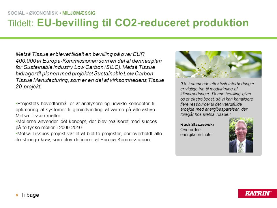 Tildelt: EU-bevilling til CO2-reduceret produktion