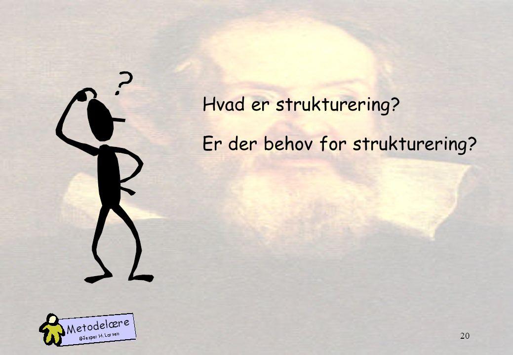 Hvad er strukturering Er der behov for strukturering