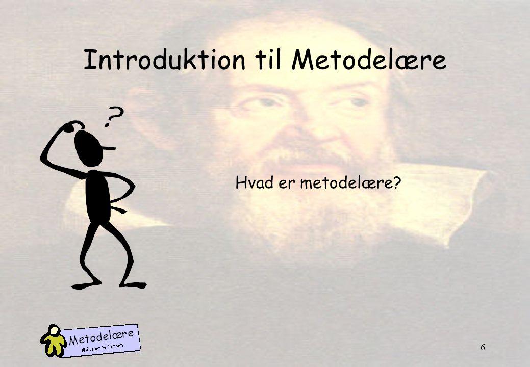 Introduktion til Metodelære