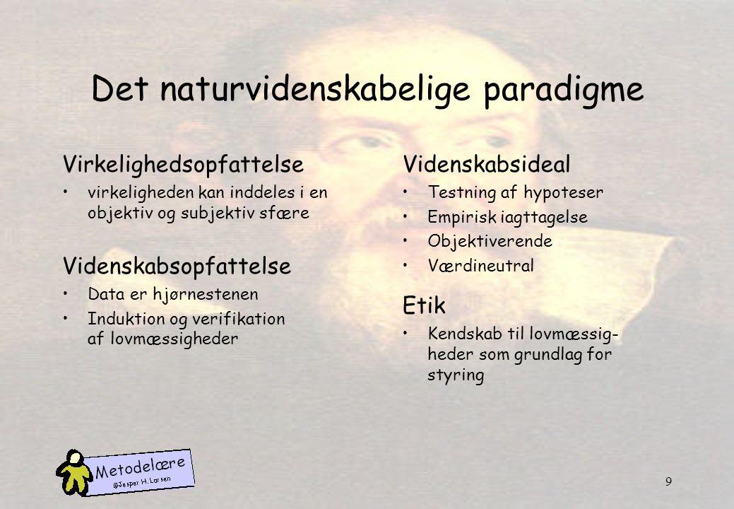 Det naturvidenskabelige paradigme