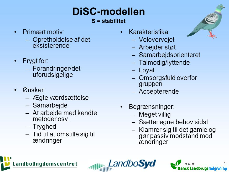 DiSC-modellen S = stabilitet