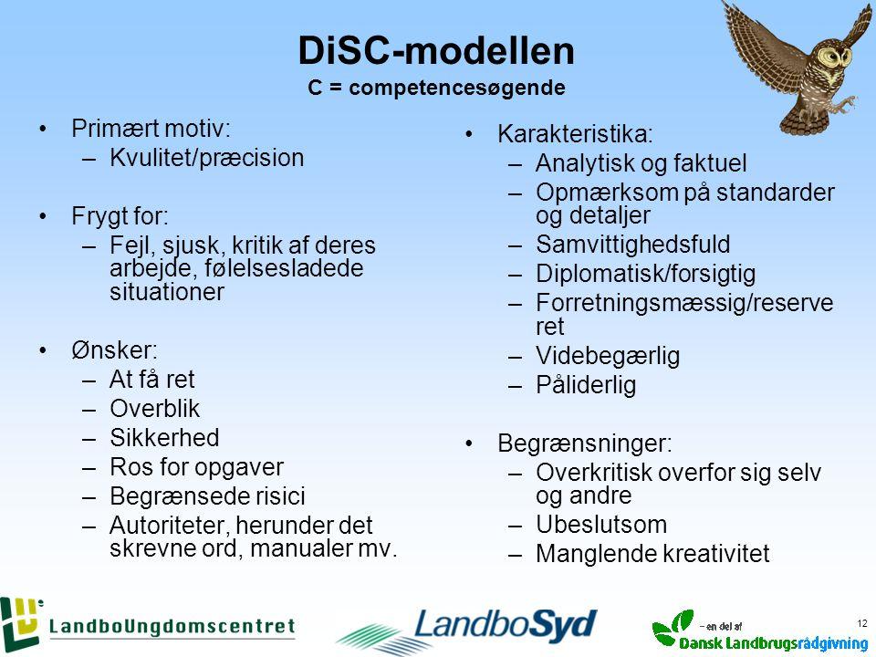 DiSC-modellen C = competencesøgende