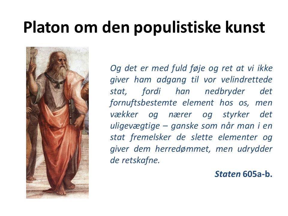 Platon om den populistiske kunst