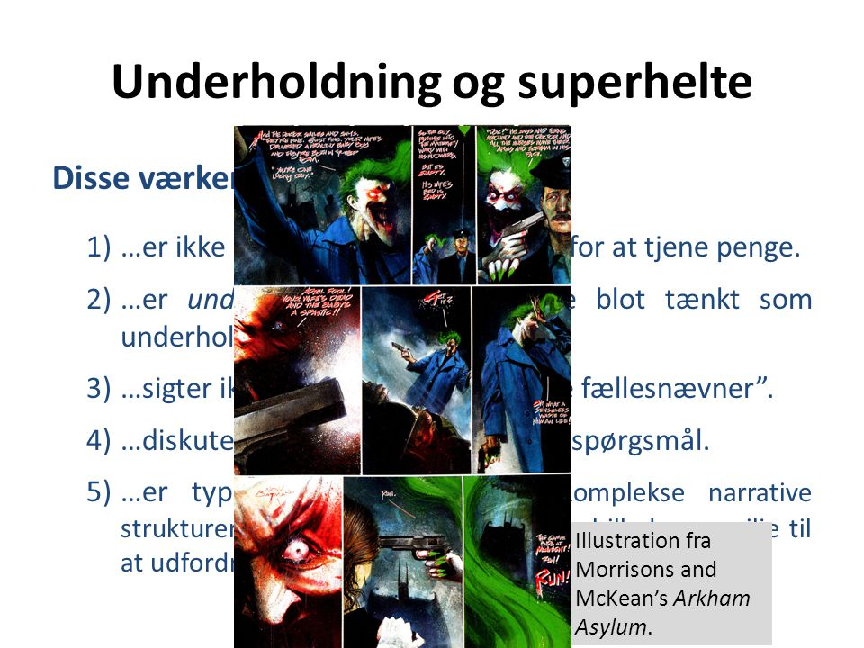 Underholdning og superhelte