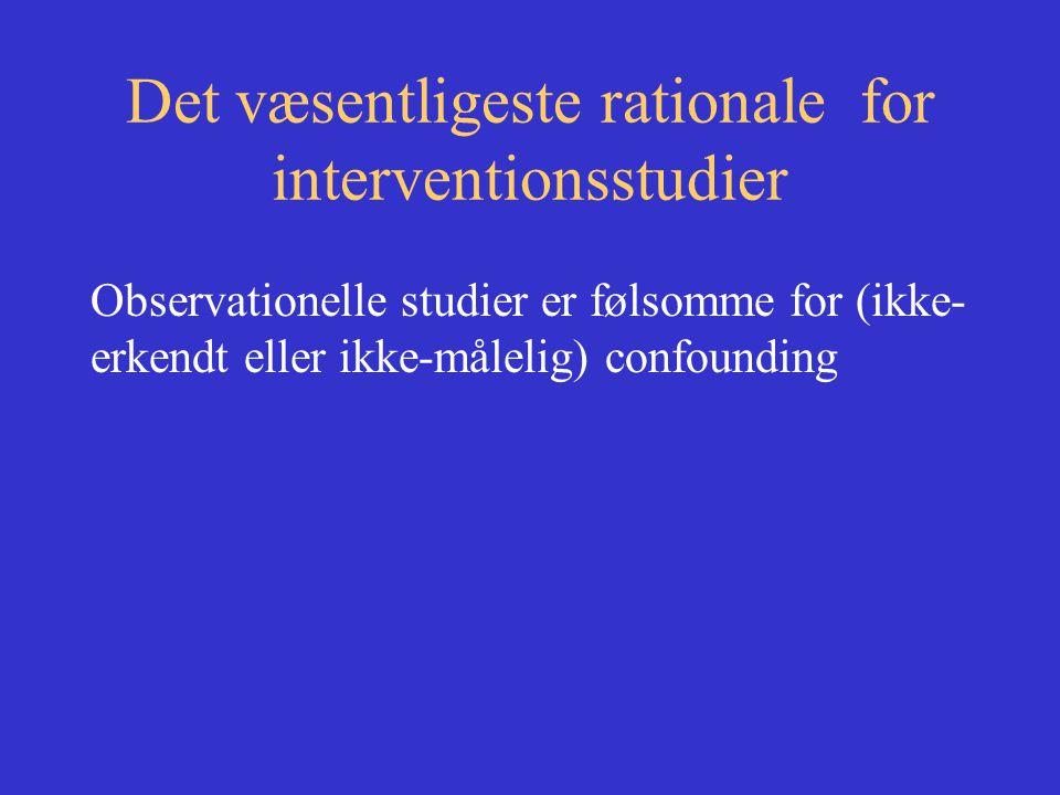Det væsentligeste rationale for interventionsstudier