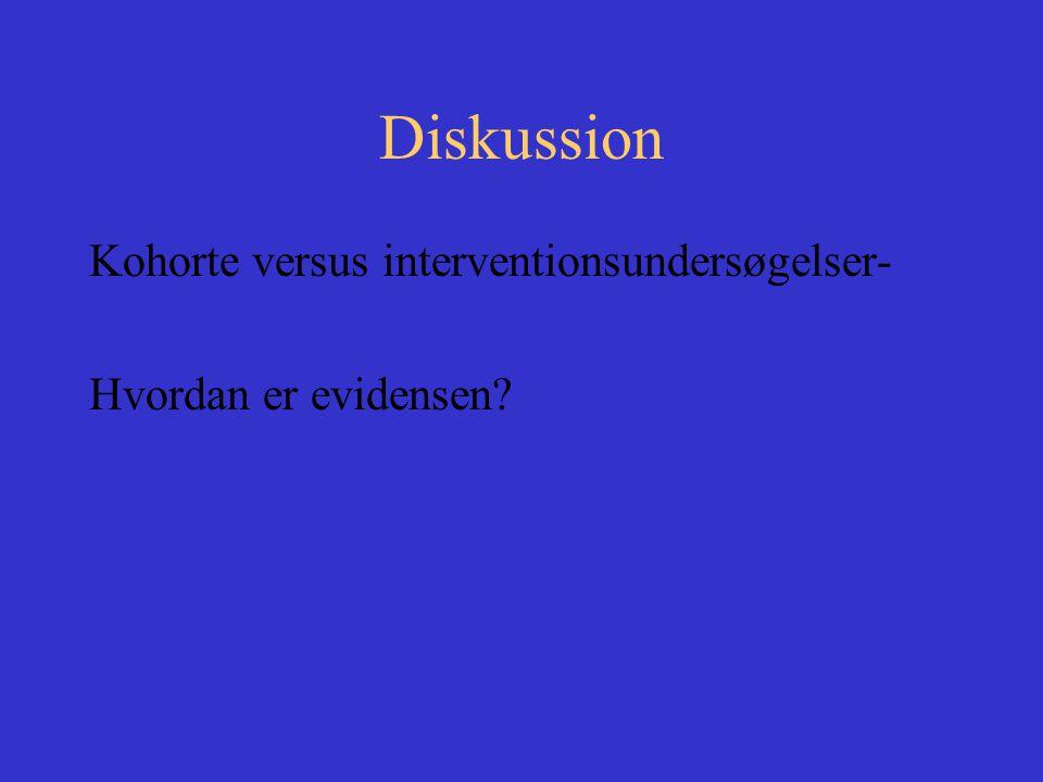 Diskussion Kohorte versus interventionsundersøgelser-